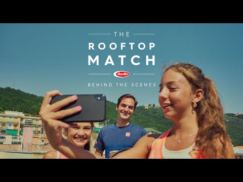 Barilla | Behind the scenes of The Rooftop Match with Roger Federer